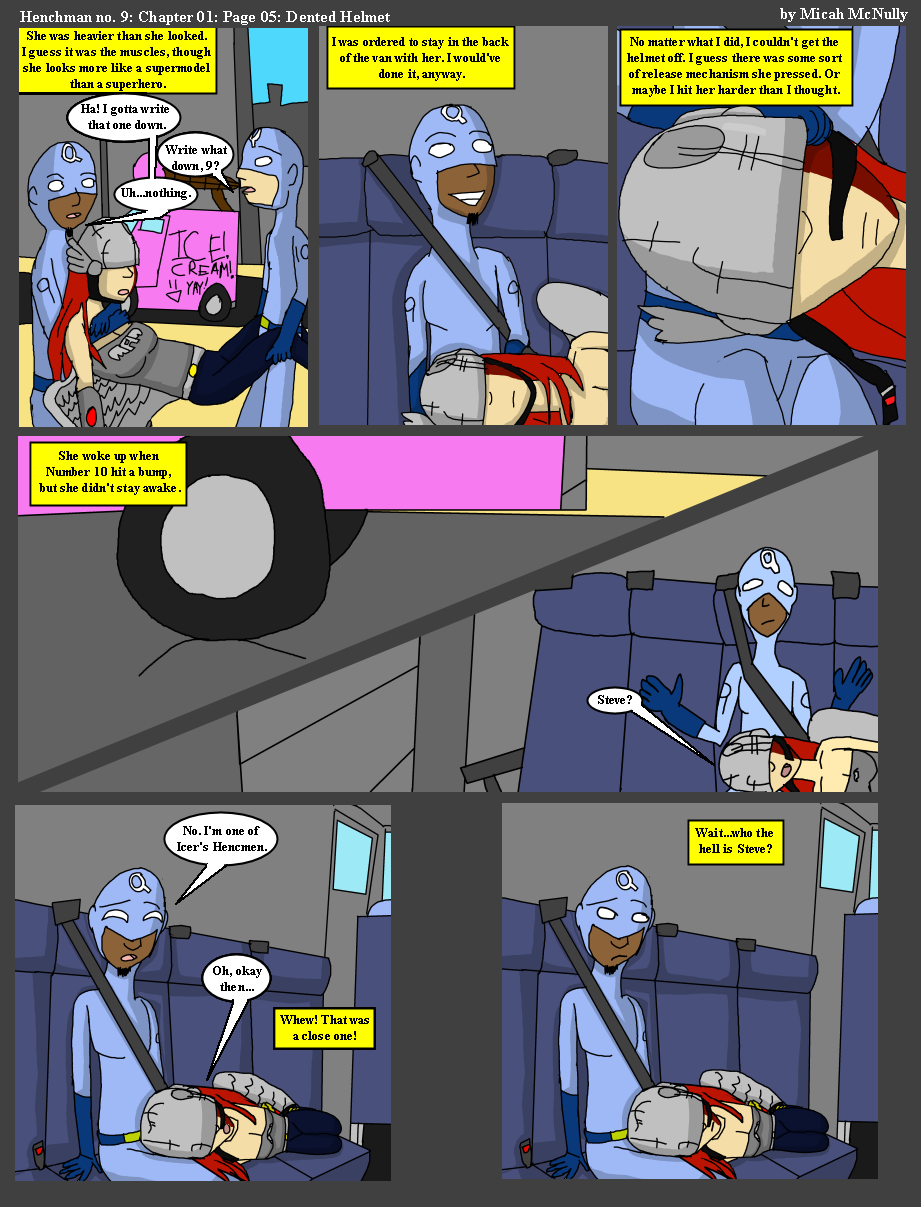 Ch01 Page05: Dented Helmet